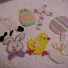 Handcrafted Needlepoint EASTER Theme Magnets (7)