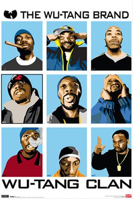 WU TANG CLAN / ANIMATED 22.25 X 24 PHOTO POSTER