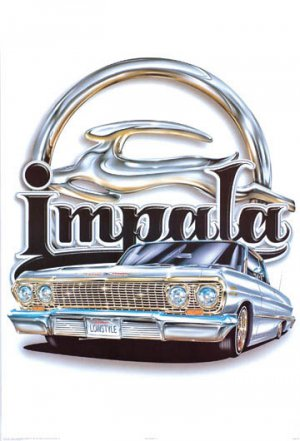 NEW IMPALA LOGO -  24 X 36 CAR POSTER