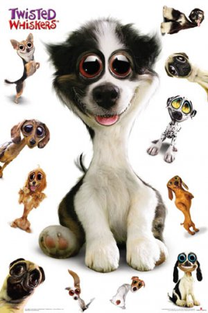 NEW TWISTED WHISKERS DOGS - 24 X 36 ANIMAL POSTER