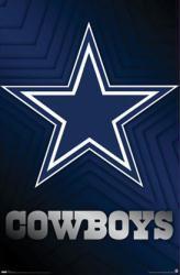 New Dallas Cowboys logo- 22 1/4'' X 34'' Nfl Poster