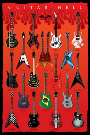 """Guitar - Axes Of Evil  24'' x 36"""" Music Poster"""