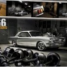 "Ford Mustang 1966 - 24'' x 36""  Car Poster"