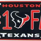 Houston Texans #1 Fan NFL Embossed Metal Novelty License Plate Tag Sign