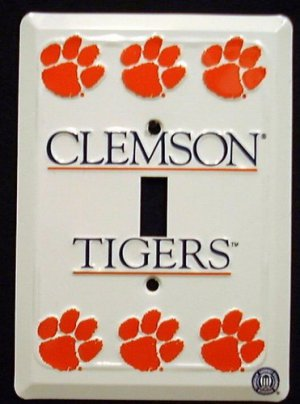 Clemson Tigers - NCAA Light Switch Covers (single)  Plates