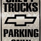 Chevrolet Chevy Trucks Parking Only Novelty Embossed Metal Parking Sign
