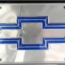 Chevy Premium Chrome Metal Novelty License Plate Tag Sign