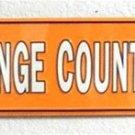 NCAA University of Tennessee Volunteers Big Orange County Embossed Metal Arrow Signs