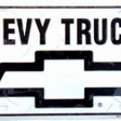 Chevrolet Chevy Trucks Silver Embossed Diamond Novelty Metal License Plate Tag Sign
