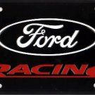 Ford Logo Racing Embossed Metal Novelty License Plate Tag Sign