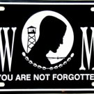 POW-MIA Novelty Metal License Plate Tag Sign