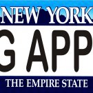 BIG APPLE New York Novelty State Background Metal License Plate Tag Sign