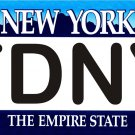 FDNY - New York Novelty State Background Metal License Plate Tag Sign