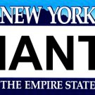 New York Giants - Novelty State Background Metal License Plate Tag Sign