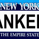 NY Yankees New York Novelty State Background Metal License Plate Tag Sign