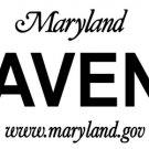 RAVENS Maryland Novelty State Background Metal License Plate Tag Sign