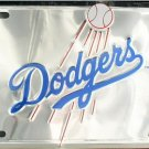 Los Angeles Dodgers MLB Embossed Chrome Metal Novelty License Plate Tag Sign