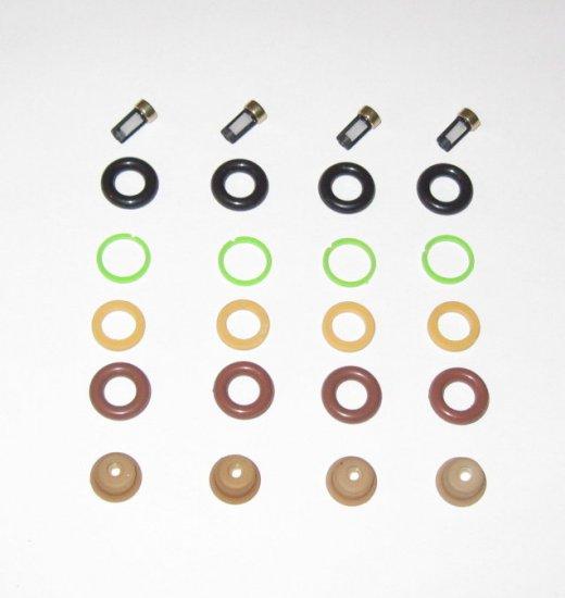 Fuel Injector Service  Rebuild kit 4 Cylinder Engine - Bosch type