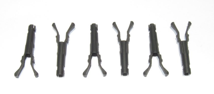 set of 6 vortec fuel injector poppet retaining clips  u2013 4