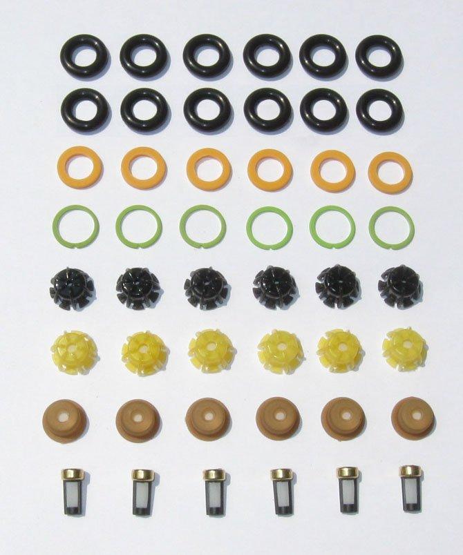 BMW Fuel Injector O�rings Seals Pintle Caps Filter Baskets 2.5L 3.0L 3.2L 3.5L  325i 525i E36 E34