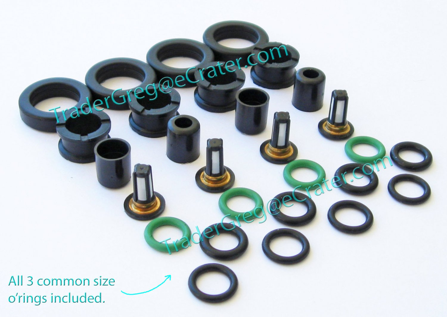 4 Cylinder O-Ring Kit for Honda /& Acura Fuel Injectors Fuel Injector Seal