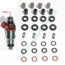 1986-1995 Toyota truck 4Runner 22R & 22RE Fuel injector orings pintle caps filters & seals