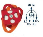 Pulley Double Aluminum Sheave 34kN