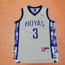 Allen Iverson 3# Georgetown Hoyas NCAA Basketball College Jersey Grey Size S-2XL