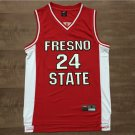 Paul George 24 NCAA Fresno State Bulldogs Red Basketball Stitched Jersey Size S-2XL