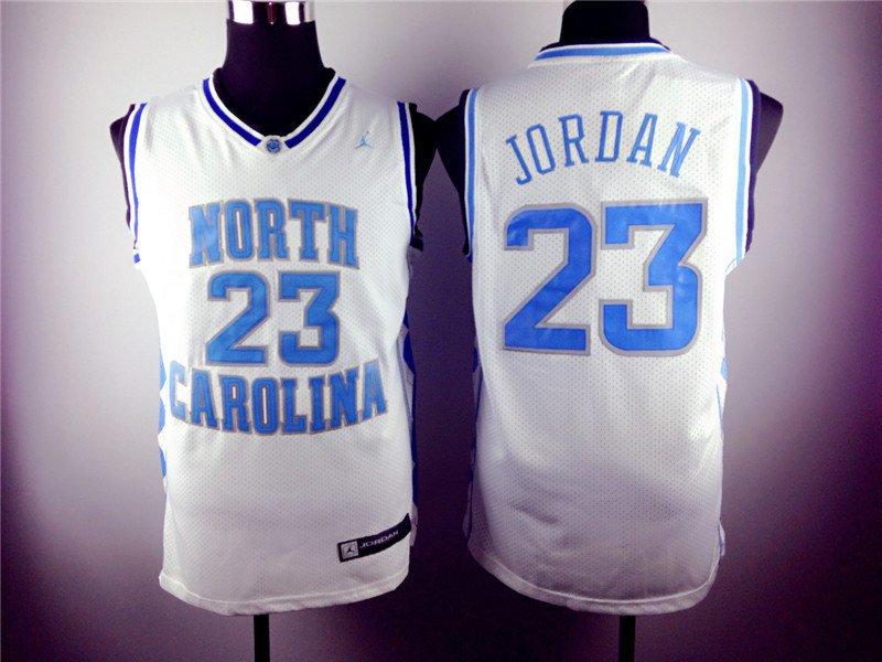 Michael Jordan 23 North Carolina Basketball White Sewn Jersey Size S-2XL