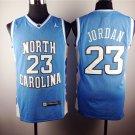 Michael Jordan 23 North Carolina Basketball Lightblue Sewn Jersey Size S-2XL