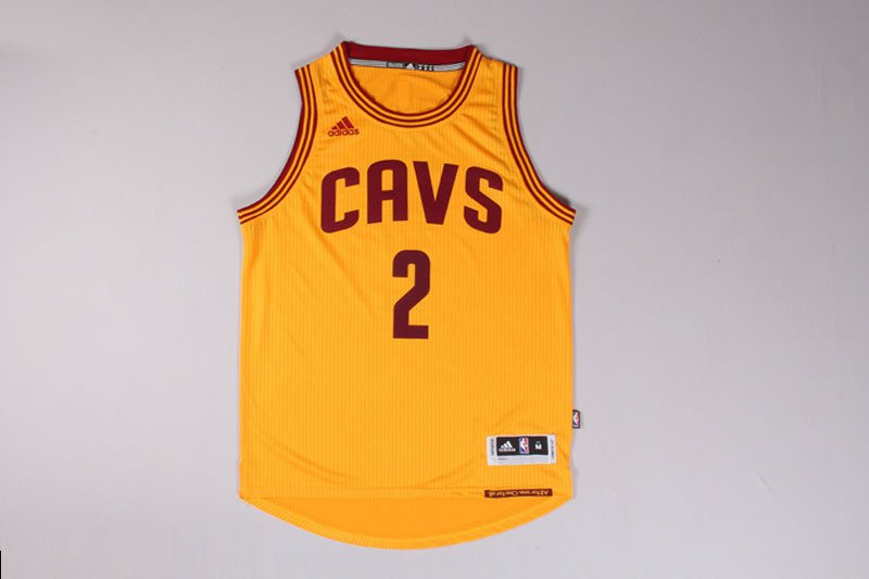 Cleveland Cavaliers 2 Kyrie Irving Yellow Basketball Sewn Jersey Size S-2XL