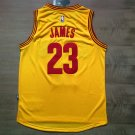 Cleveland Cavaliers 23 LeBron James Yellow Basketball Sewn Jersey S-2XL