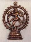 Dancing Shiva Brass Goddess Sculpture