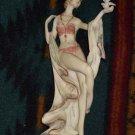 Art Deco Lady with Dove Figurine