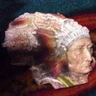 Indian Chief Head Sculpture