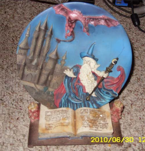 Wizard & Dragon Collectible Plate
