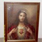 Vintage Sacred Heart Christ Print