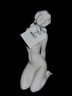 Reclining Nude Girl  Marble Sculpture
