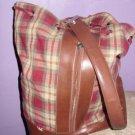 Longaberger homestead leather and cloth handbag