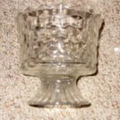 Diamond Block Pattern Clear Dish, circa 1950