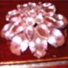 Vintage Pink Ice Brooch/Pin Costume Jewelry