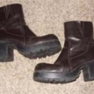 Dark Brown Ladies Boots by Soho, Size 8