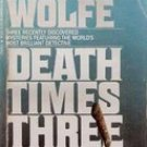 Death Times Three (Nero Wolfe) by Rex Stout 1985