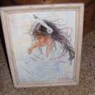 Framed Serene American Indian Maiden Print, Jonnie Kostoff
