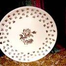 Golden Rose with triple Gold Rose border Dinner Plate
