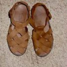 River Rapids Brown Leather Sandal, Size 8