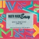 Math Made Easy: Quick Percents QPR 100 (VHS)