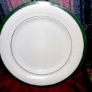 Forest Green Rim Dinner Plate by The Cellar, 1997