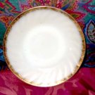 Fire King Swirl Pattern Saucer, Gold Trim 1950